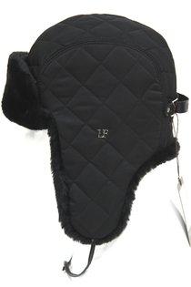 Ушанка LF-Rocky, искусственный мех, ткань плащевая, цвет черный