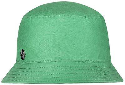 Панама, ткань хлопок, цвет зеленый 89230