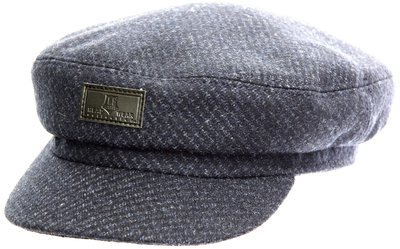 Капитанка NAV, ткань (шерсть), цвет синий, рябь 231-26