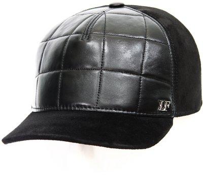 Бейсболка LF Cap color, кожа комби замша, цвет черный 022S01-2