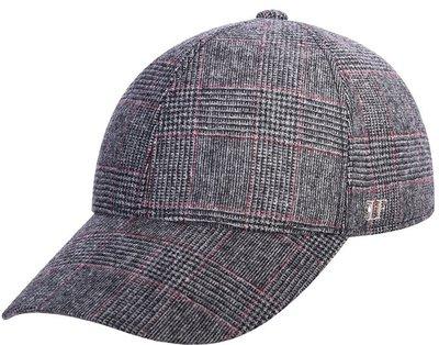 Бейсболка, ткань (шерсть), цвет серый/красный 071-65L