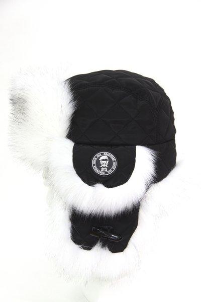 Ушанка LF LUCKY MAN, мех лиса (искусственный), ткань плащевая, цвет черный 3722-1