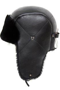Ушанка LF HatX, овчина MERINOS, цвет черный