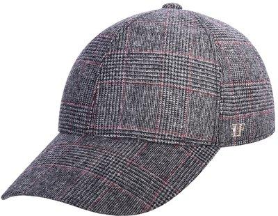 Бейсболка, classic, ткань (шерсть), цвет серый, клетка 071-65
