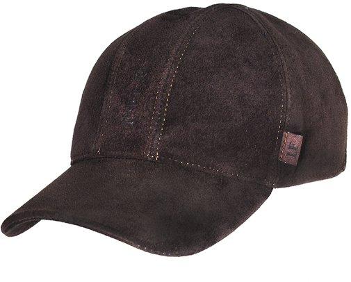 Бейсболка, замша, цвет коричневый 0603