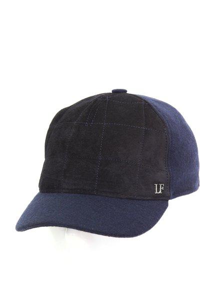 Бейсболка LF Cap color, замша, ткань (шерсть), цвет синий 022S06-35