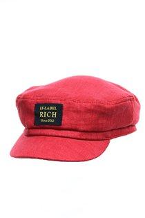 Капитанка RICH, лен 100%, цвет красный
