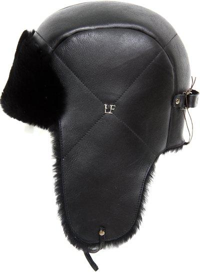 Ушанка LF HatX, овчина MERINOS, цвет черный 019