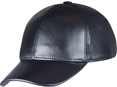 Бейсболка classic, кожа, цвет черный 0702