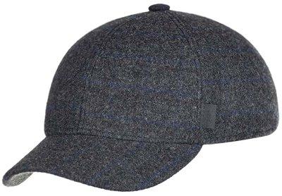 Бейсболка classic, ткань (шерсть), цвет темно-серый, клетка 071-34