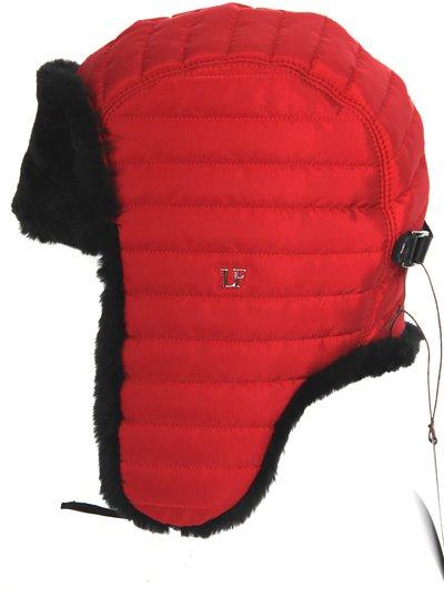 Ушанка LF-Rocky, искусственный мех, ткань плащевая, цвет красный 3532-10