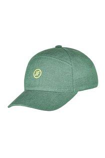 Бейсболка, ткань лён, цвет зелёный