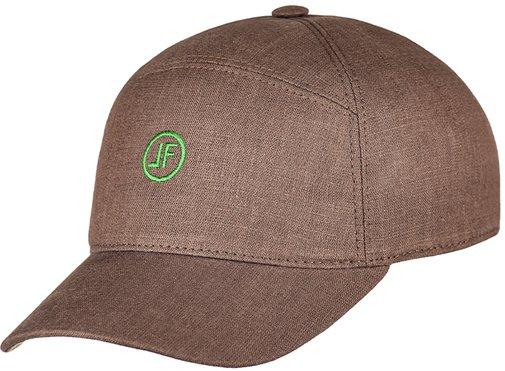 Бейсболка, ткань лён, цвет коричневый 093-2