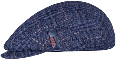 Кепка LF REG, ткань (шерсть), цвет синий, клетка 081-25