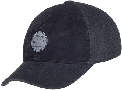 Бейсболка LF RICH, замша, драп, цвет черный 0701-9R