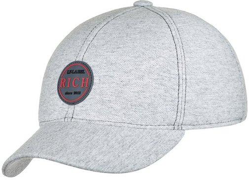 Бейсболка RICH, ткань хлопок, цвет серый 076-36RB