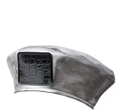 Берет CITY, кожа-серебро 74016-13
