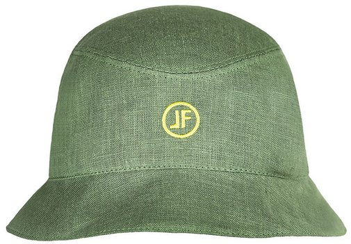 Панама, ткань лён, цвет зелёный 253-6LF