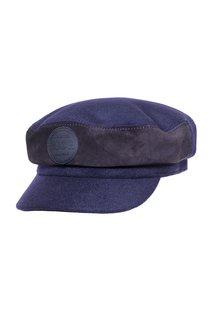 Капитанка LF-LABEL, ткань, замша, цвет синий