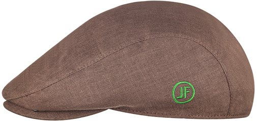 Кепка реглан, ткань лён, цвет коричневый 133-2