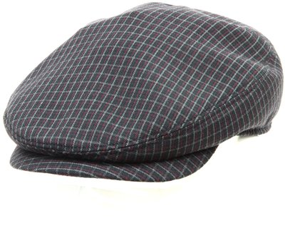Кепка LF Shelton, ткань, цвет серый, клетка бордо 011-38