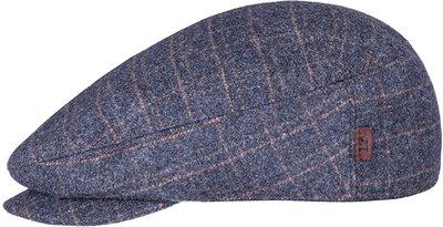Кепка LF Shelton, ткань (шерсть), цвет серый, клетка 011-33