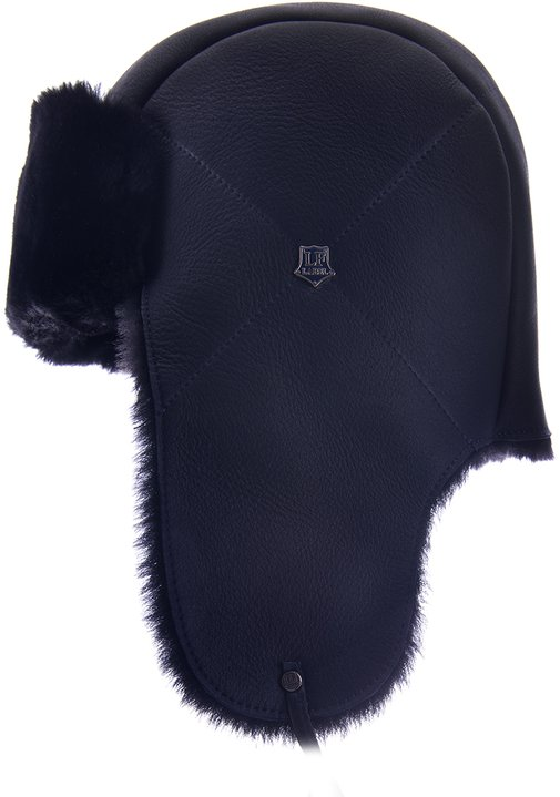 Ушанка LF HatX, овчина MERINOS, цвет синий 019-S
