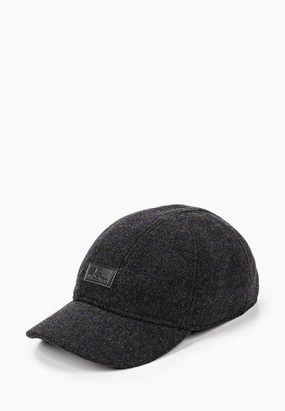 Бейсболка, London, ткань (шерсть), цвет серый клетка 061-34