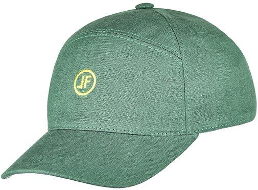 Бейсболка, ткань лён, цвет зелёный 093-6
