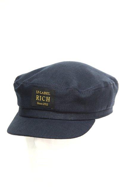 Капитанка RICH, лен 100%, цвет синий 273-16