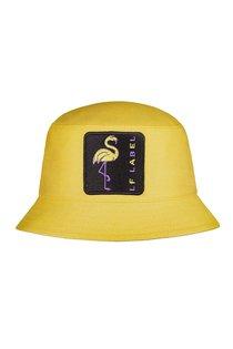 Панама LF-Label LADY Flamingo, хлопок, цвет желтый