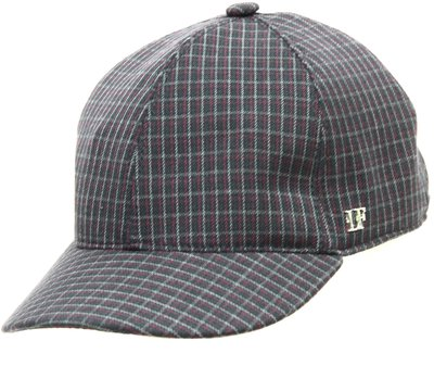 Бейсболка classic, ткань, цвет серый, клетка бордо 071-38