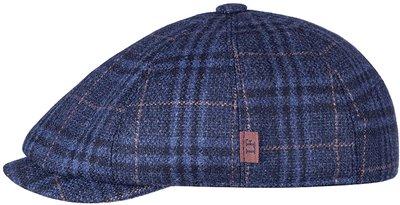 Кепка LF Charlie, ткань (Италия) шерсть, цвет синий, клетка 041-25