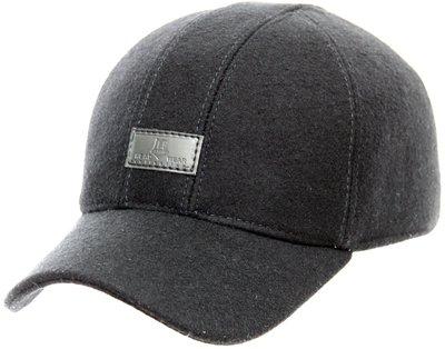 Бейсболка, London, драп, цвет черный 061-9