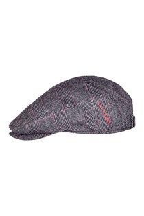 Кепка, ткань (шерсть), цвет серый/красный