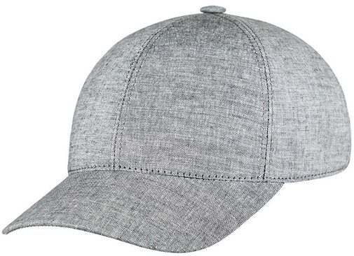 Бейсболка, ткань лён, цвет серый 073-15