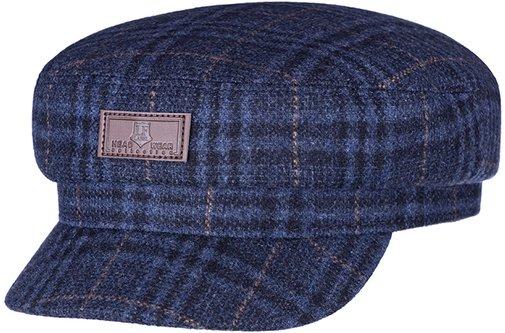 Капитанка NAV, ткань (шерсть), цвет синий, клетка 231-25