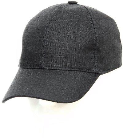 Бейсболка classic, лен 100%, цвет черный 073-4