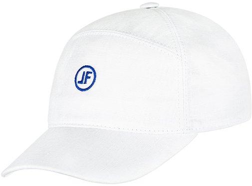 Бейсболка, ткань лён, цвет белый 093-5