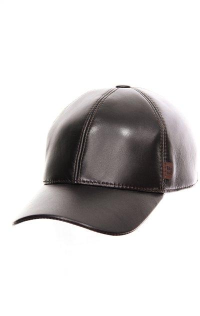 Бейсболка classic, кожа, цвет коричневый 0704