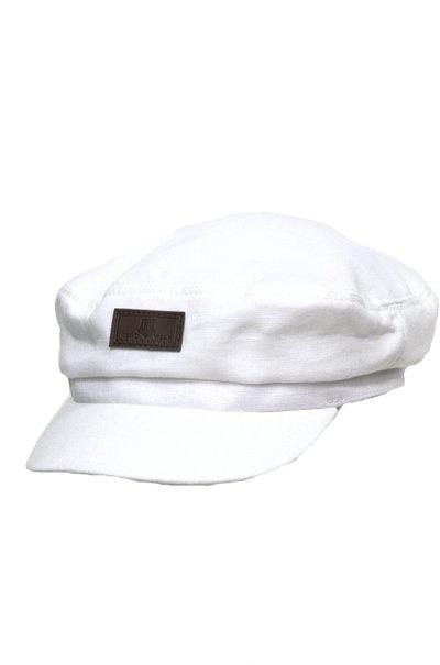 Капитанка NAV, лен 100%, цвет белый 233-5
