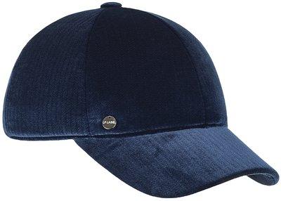 Бейсболка, бархат, цвет синий 071-103