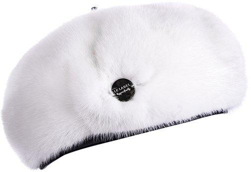 Берет LF LADY, мех норка, цвет белый 74-16-20