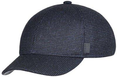 Бейсболка, classic, ткань (шерсть), цвет синий, клетка 071-47