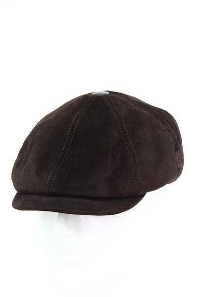 Кепка восьмиклинка, замша, цвет коричневый 0403