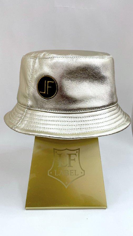 Панама GOLD, кожа, цвет золото 29017