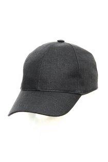 Бейсболка classic, лен 100%, цвет черный