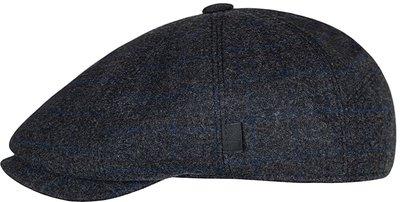 Кепка LF Charlie, ткань (Италия) шерсть, цвет темно-серый, клетка 041-34