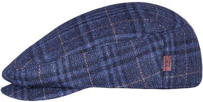 Кепка shelton, ткань Италия, цвет синий, клетка 011-25