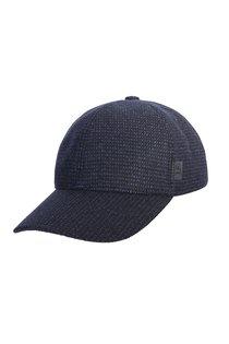 Бейсболка, classic, ткань (шерсть), цвет синий, клетка